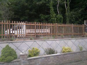 Picket fencing.