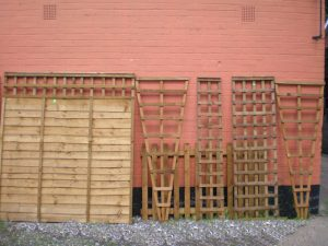Fence Panels, Trellis and Picket Fence.
